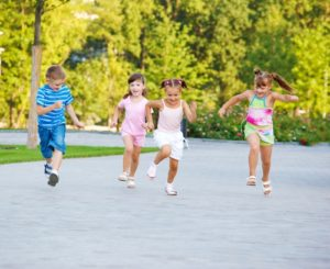A consistent exercise regimen helps children maintain a healthy weight.