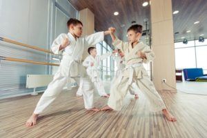 Kids excited about martial arts