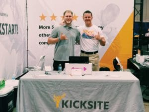 Kicksite booth at World Masters